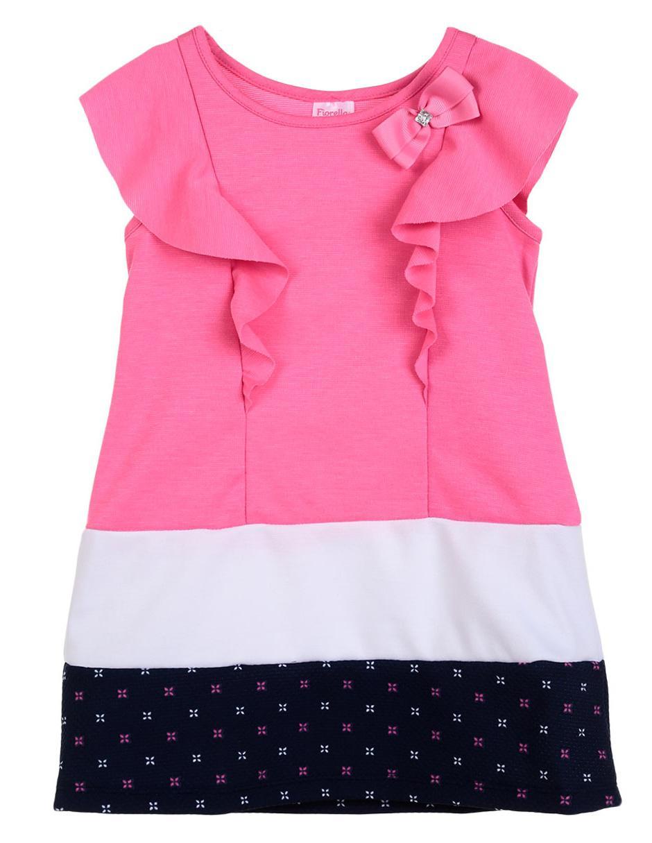 7ea12b5e7b Vestido liso Fiorella algodón para niña
