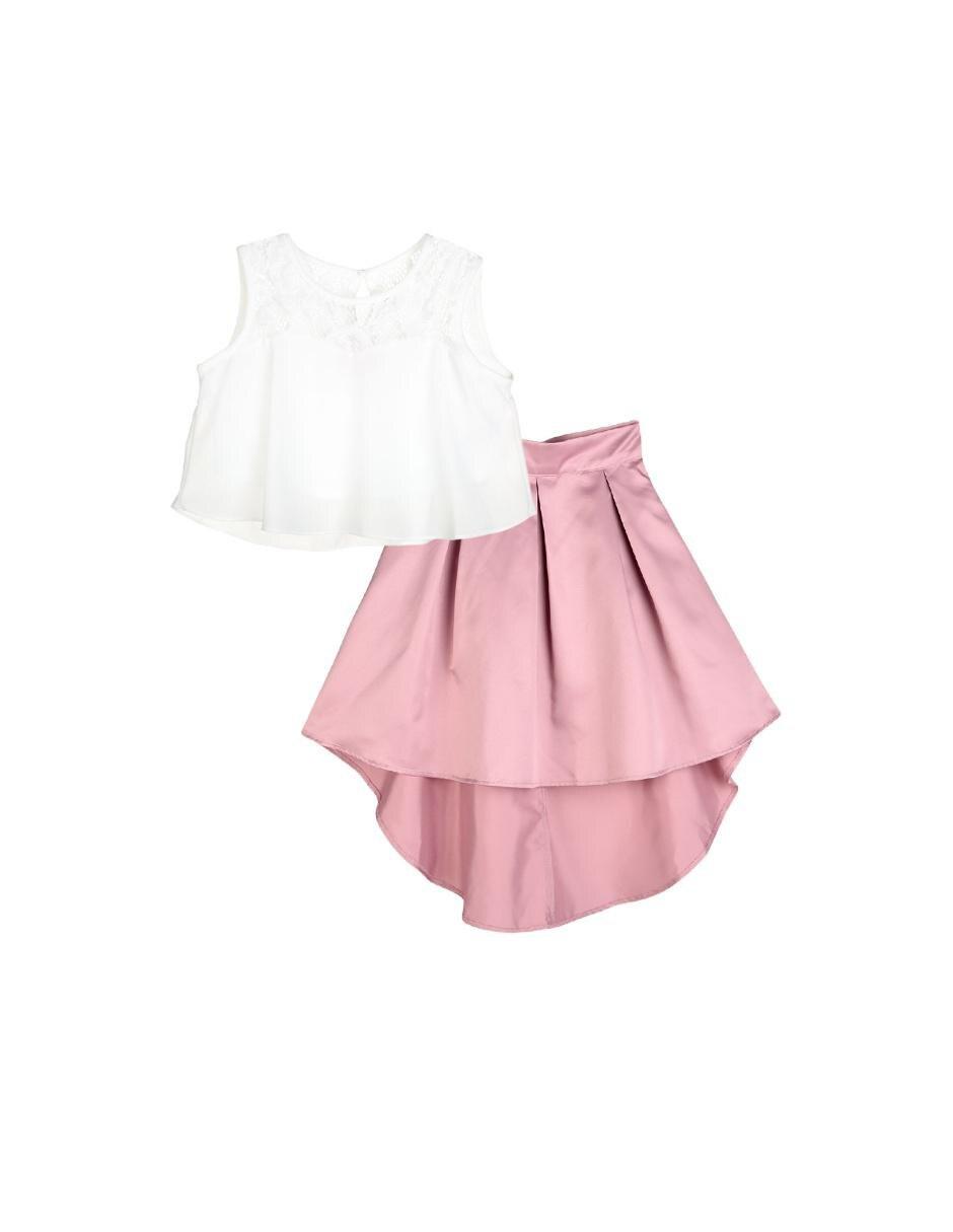24b7b8522 Vestido liso Pink   Violet para niña