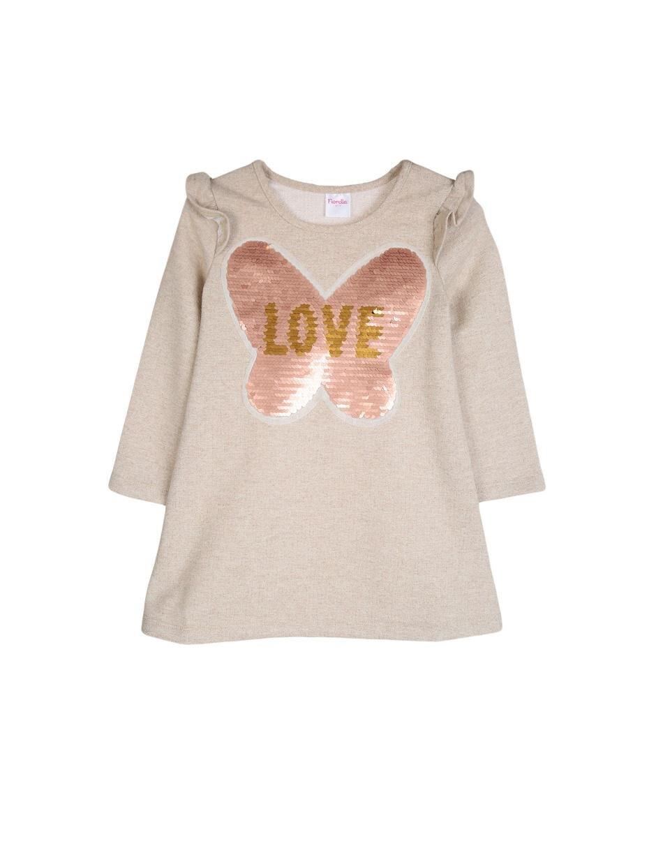 8a327db723 Vestido jaspeado Fiorella algodón para niña