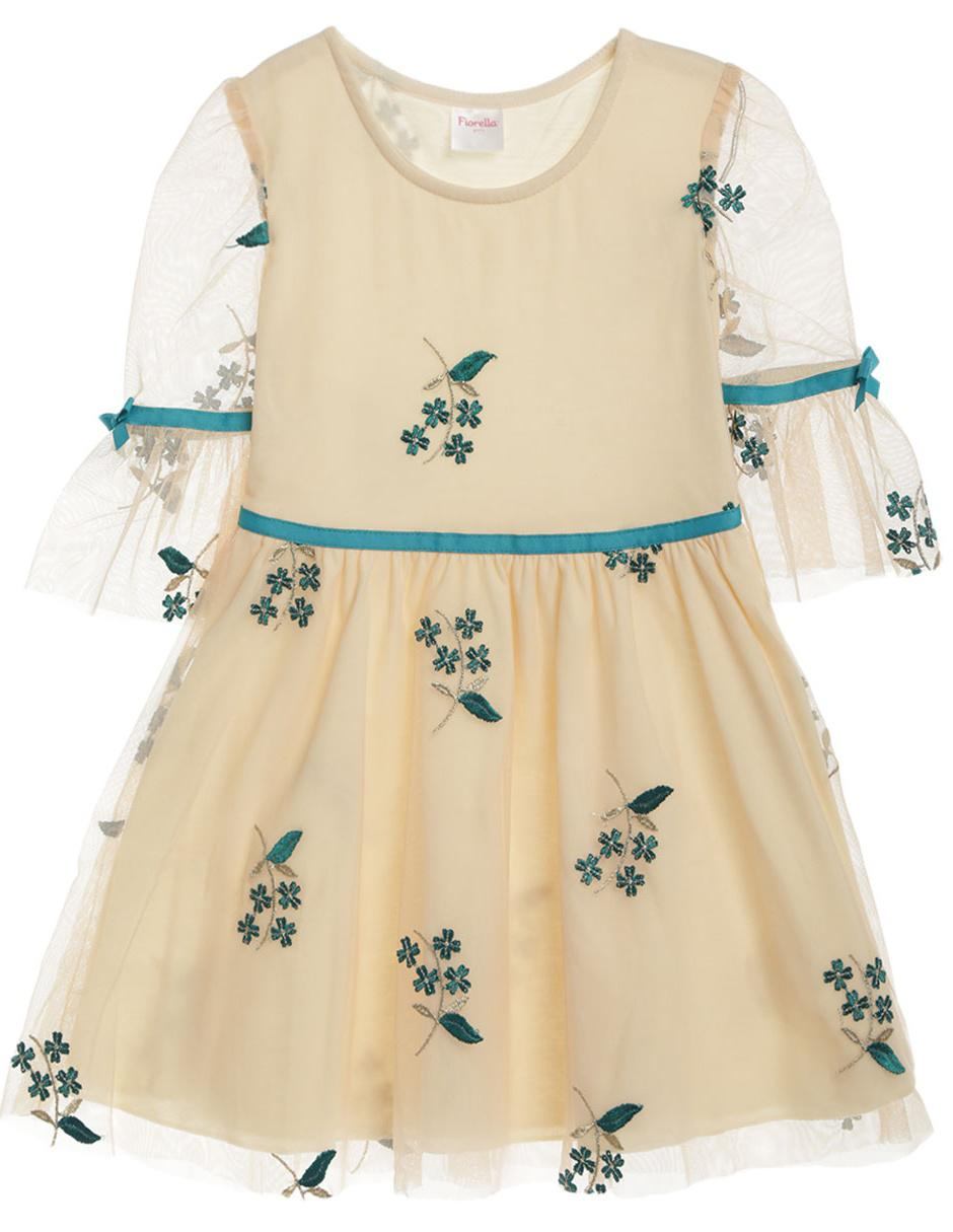 8bd5120fdb Vestido floral Fiorella algodón para niña
