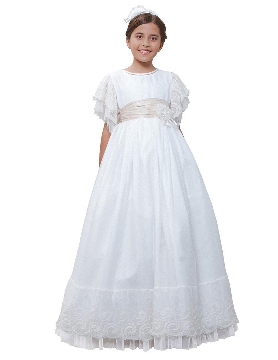 Vestido Para Primera Comunión María Guajardo Para Niña